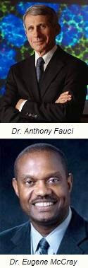 Drs. Anthony Fauci and Drs. Eugene McCray photo