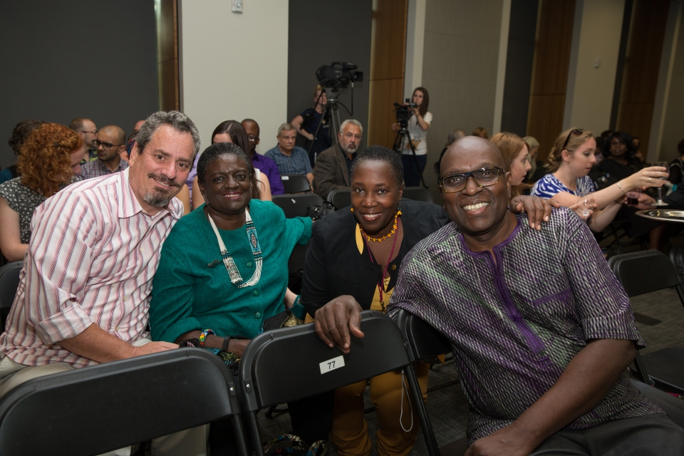 Members of the Community Partnership Council smile at the camera