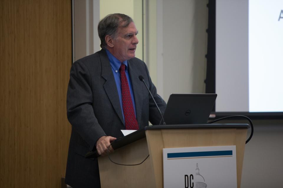 Gary Simon gives a presentation at the DC CFAR launch