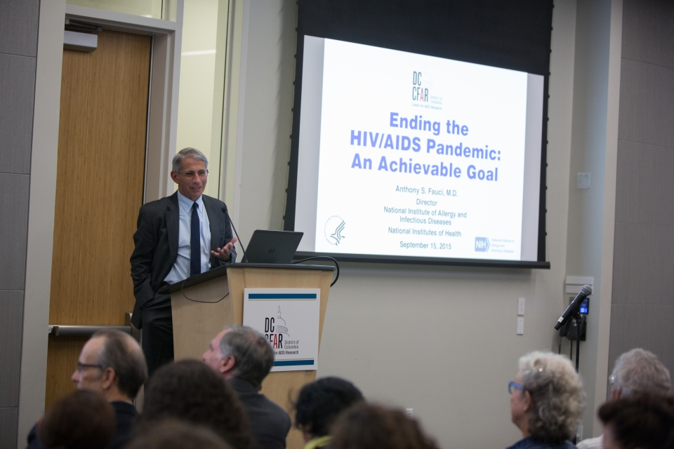 Dr. Fauci presents on ending the HIV pandemic