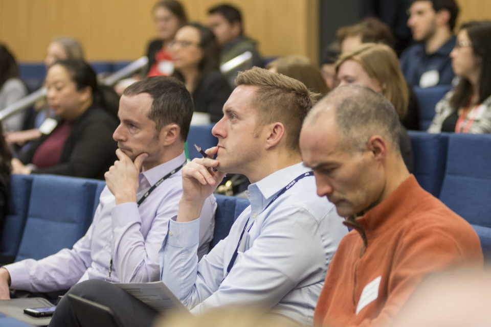 The audience of Annual Research Day 2018 listen to presentations