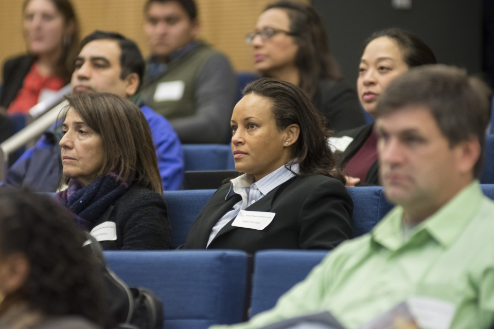 Guests at the Annual Research Day 2018 listen to speakers