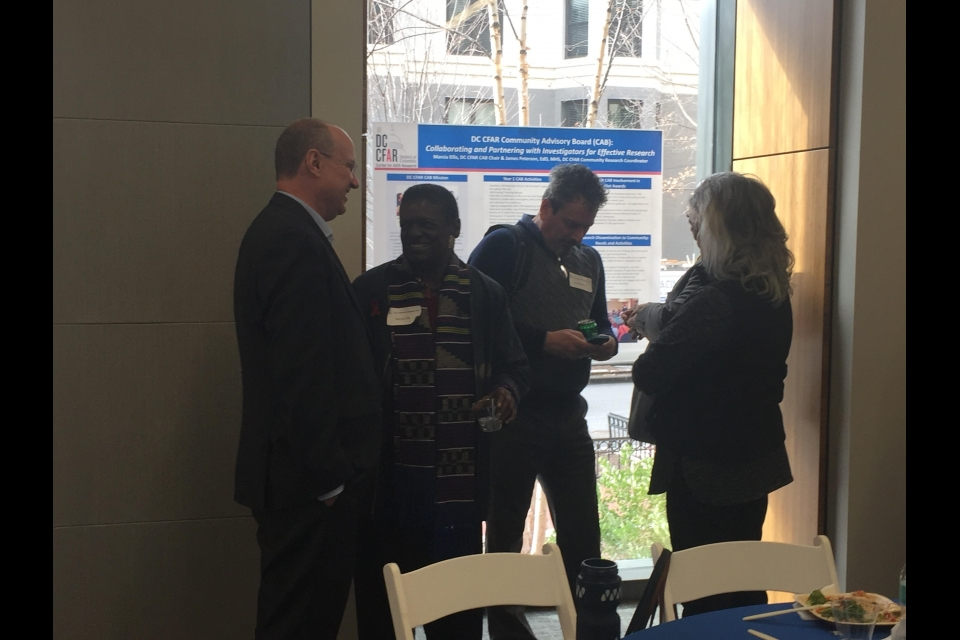 Guests talk at the Annual Research Day 2018